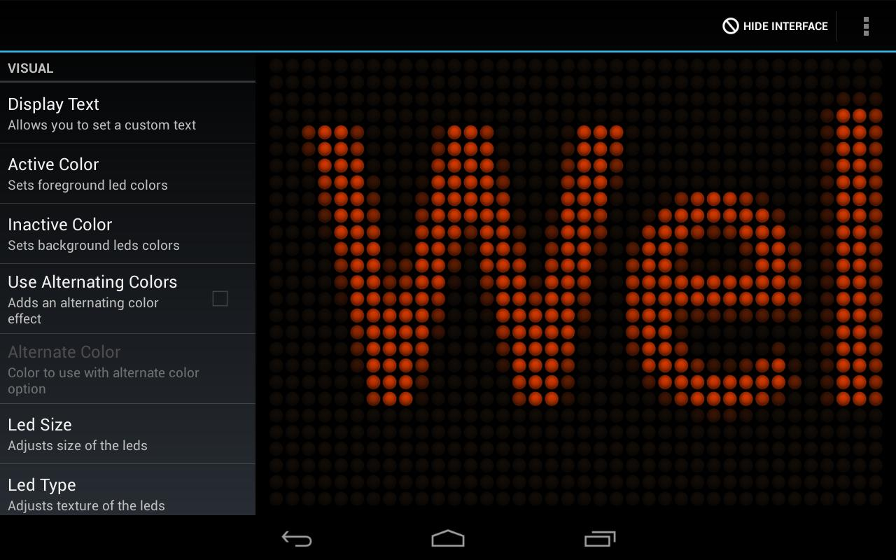 LED Text Scroller - screenshot