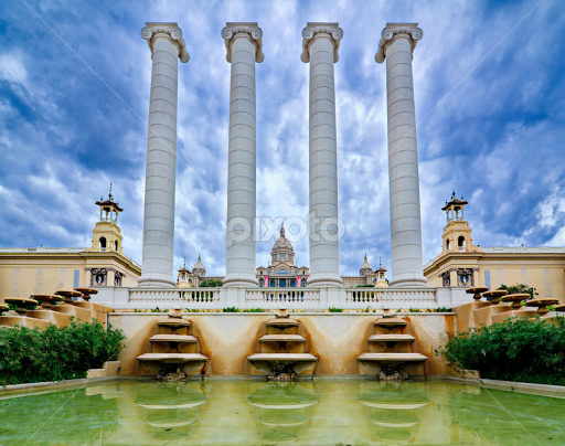 The National Palace In Montjuic Barcelona Spain By Dotan Naveh