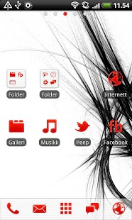 Red GO Launcher EX Theme- screenshot thumbnail
