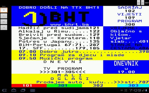 BHT1 Teletekst - screenshot thumbnail