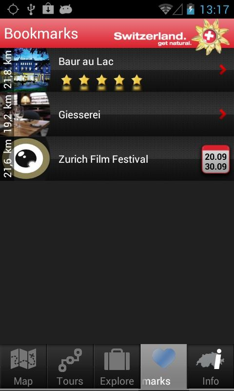 City Guide Zürich - screenshot