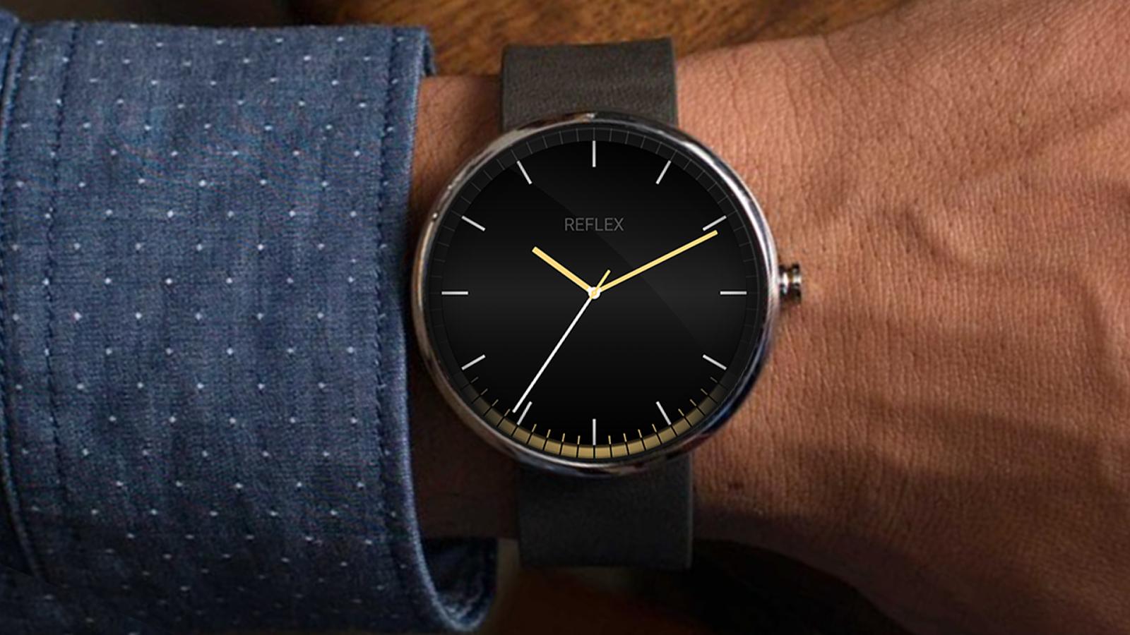 Designer android wear watchface - Reflex Watch Face Android Wear Screenshot