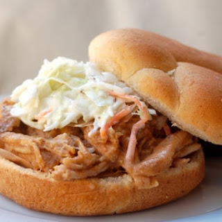 Slow Cooker Pulled Pork Loin with Applesauce.