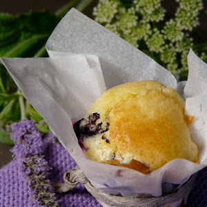 Mini Blueberry and White Chocolate Muffins