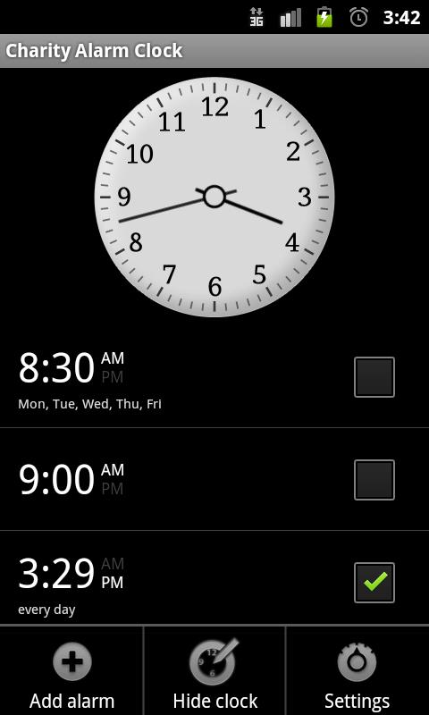 Charity Alarm - Pay to Snooze- screenshot