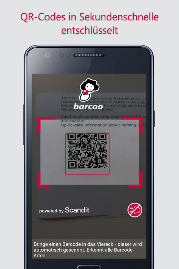 Barcode & QR Scanner barcoo- screenshot