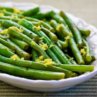Lemony Green Beans (Green Beans with Lemon Juice and Lemon Zest).
