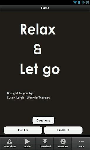 Relax let go - Susan Leigh