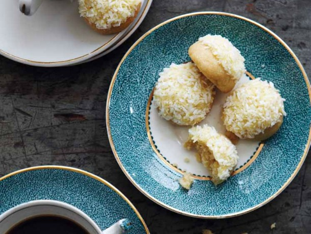 Orange Butter Drops with Shredded Coconut Recipe