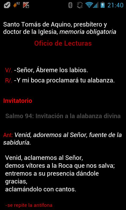 ePrex Liturgia de las Horas - screenshot