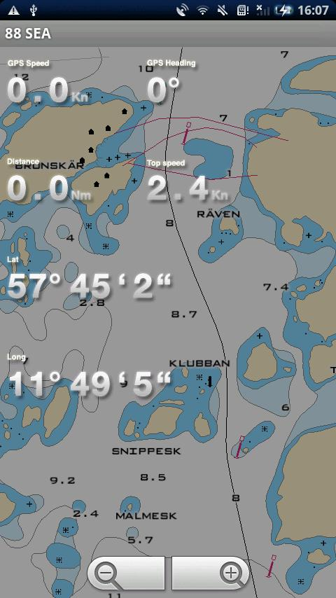 88 SEA - Sjökortsnavigator - screenshot