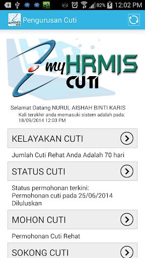【免費個人化App】MyHRMIS Cuti-APP點子