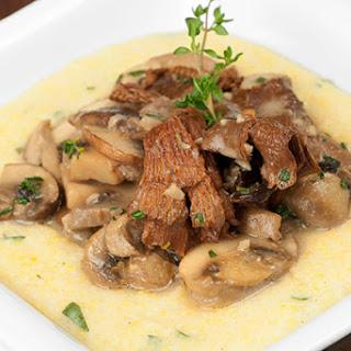Wild Mushroom Medley with Creamy Goat Cheese Polenta