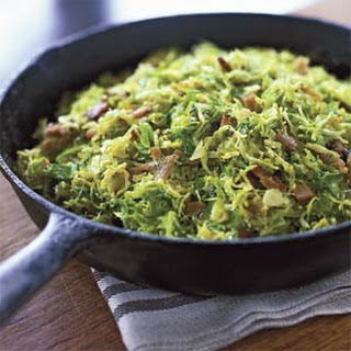 Shaved Brussels Sprouts with Pancetta.