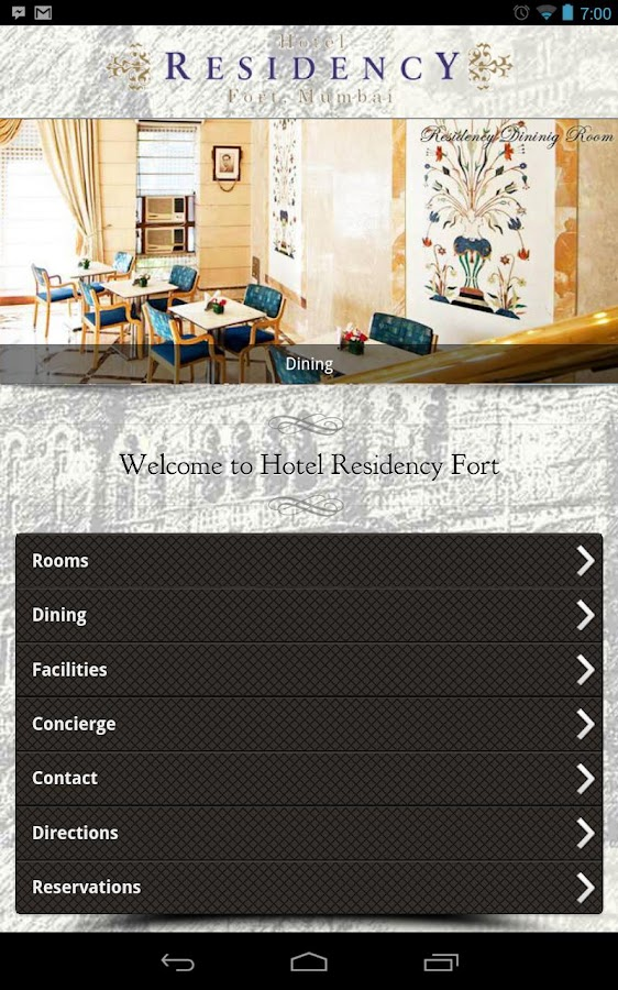Residency Hotel Fort, Mumbai- screenshot