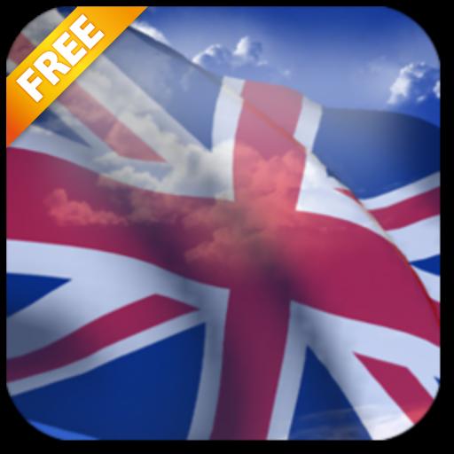 3D英国国旗ライブ壁紙無料 個人化 App LOGO-硬是要APP