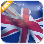 3D UK Flag Live Wallpaper Free