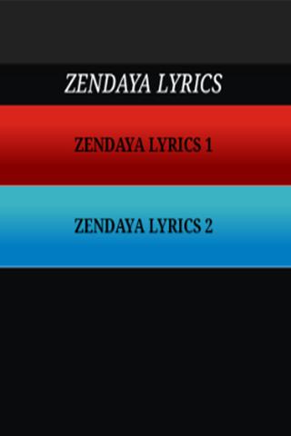 Zendaya - Just The Lyrics