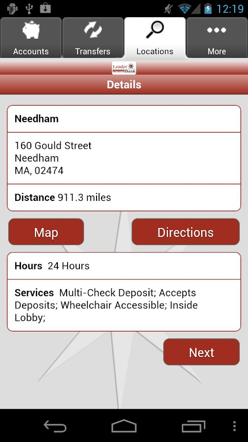 Leader Bank Mobile Banking - screenshot