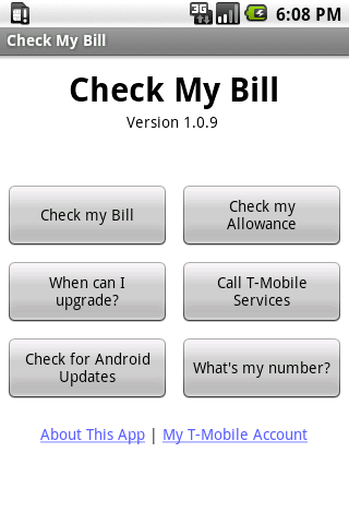 Check My Bill - screenshot