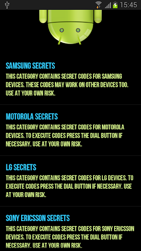 Secret Codes for Android PRO