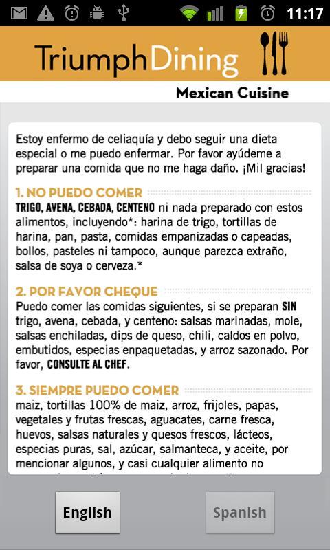 Gluten Free Mexican- screenshot