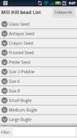 Screenshot of Bead Checklist