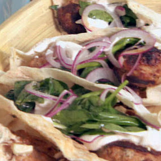 Turkey Kofte with Apple Raita and Spinach Recipe