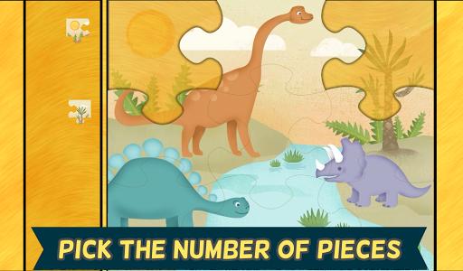 玩教育App|孩子們的恐龍遊戲:幼稚園的可愛恐龍火車拼圖遊戲免費|APP試玩