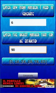 Lottery Numbers Generator Free - screenshot thumbnail