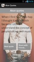 Screenshot of Akon Quotes