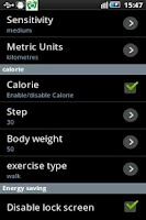 Screenshot of Step counter(pedometer) widget