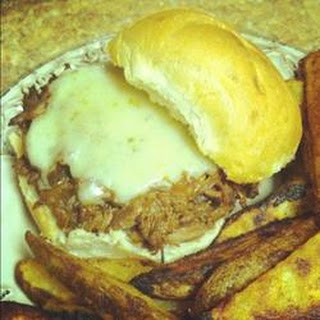 Slow Cooker Barbecue Goose Sandwich.