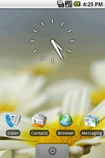 Transparent Clock Widget 2x2