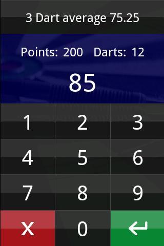 DartTrainer app- screenshot