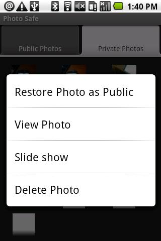 Photo Safe (PS) - screenshot