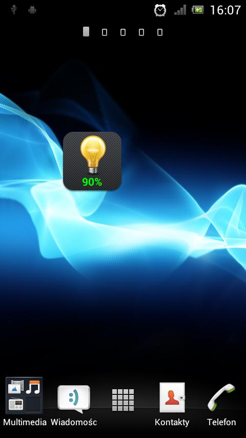 Flashlight and Battery Widget - screenshot
