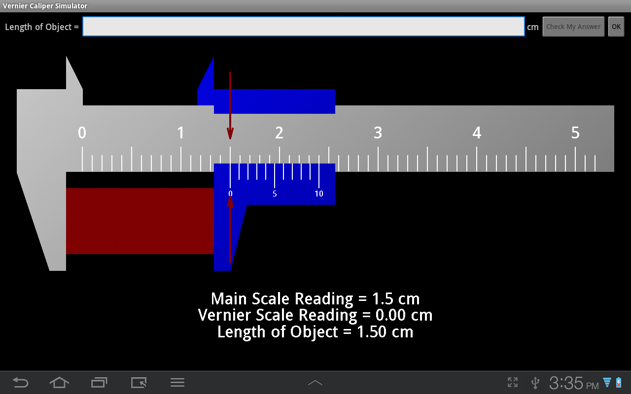 Vernier Caliper Simulator- screenshot