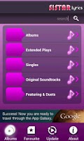 Screenshot of Sistar Lyrics