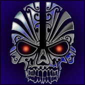 TITANIUM TRIBAL SKULL THEME