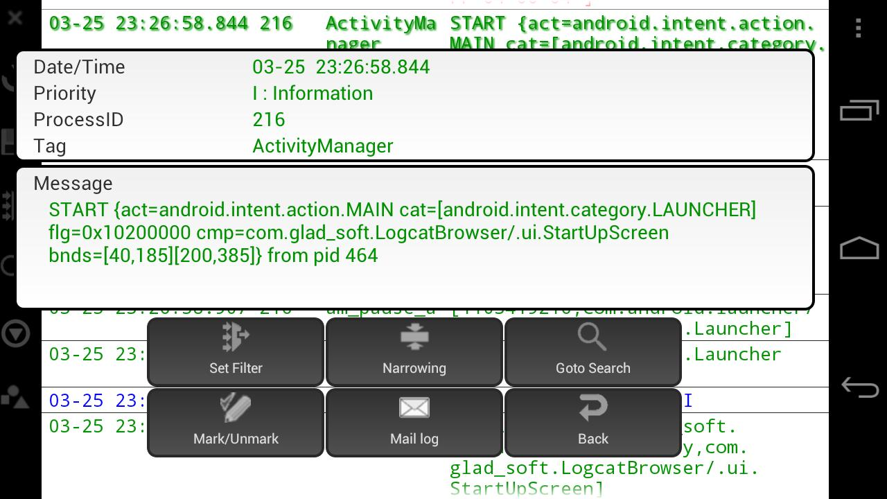 LogcatBrowser- screenshot