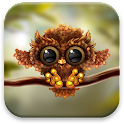 Autumn Little Owl Wallpaper icon