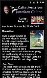 Jonathan Cainer Horoscopes - screenshot thumbnail