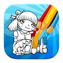 Doll Coloring Game icon