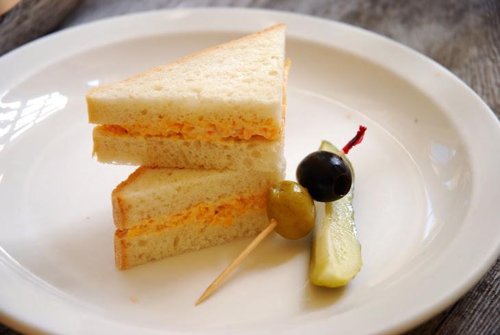 Pimento Cheese Sandwiches on White Bread Recipe