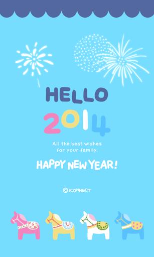hello2014 go sms theme