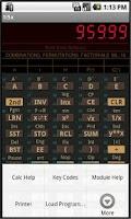Screenshot of TI-58C/59 Calculator Emulator