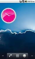 Screenshot of Pink Analog Clock