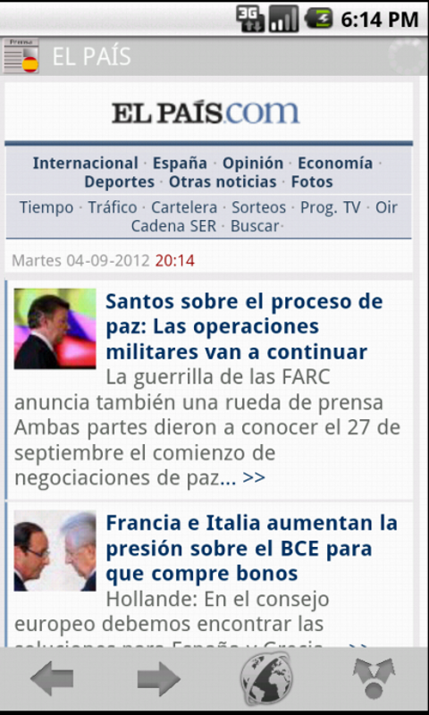 News & Magazines in Spain- screenshot