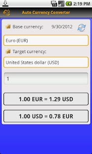 Auto Currency Converter- screenshot thumbnail
